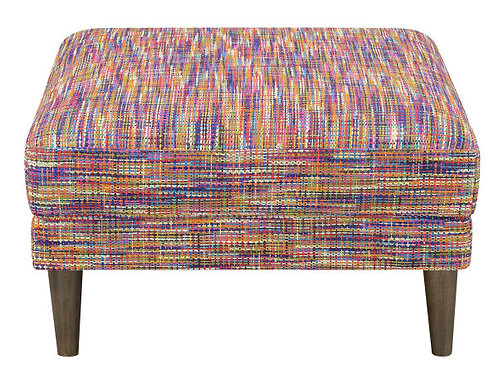 Emeral Jax Multi Fabric Accent Ottoman