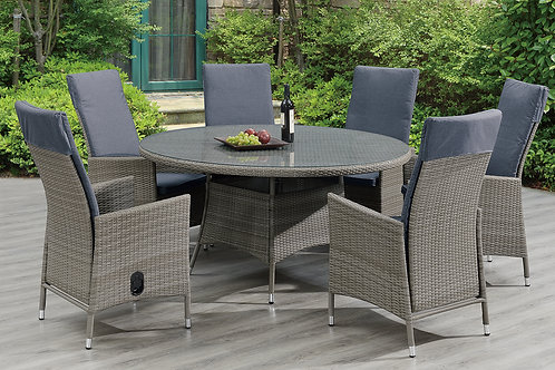 279 Port Table and 6 Arm Chairs w/ Adjustable Back