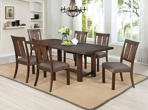 Wire Milt Brown Dining Table