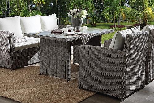 All Tahan 4Pc Patio Set Fabric & 2-Tone Gray Wicker