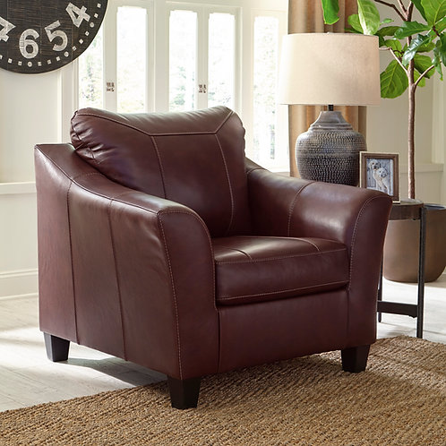 Fortney Angel Mahogany Leather Chair