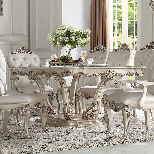 Gorsedd All Antique White Finish Dining Table