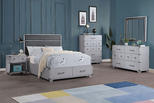 Orchest All Full Bed w/Storage Gray