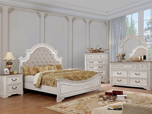 PEMBROKE Imprad Antique Whitewash Bed