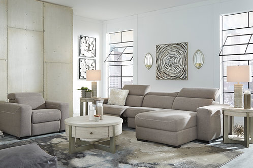 Mabton Angel Gray Power Reclining Sectional