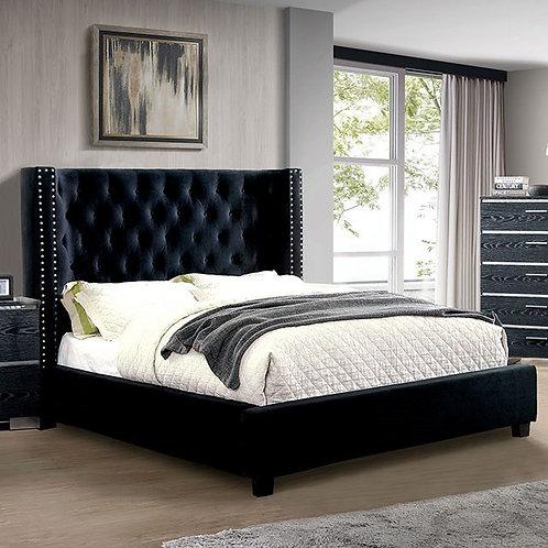 CAYLA Imprad Black Platform Bed
