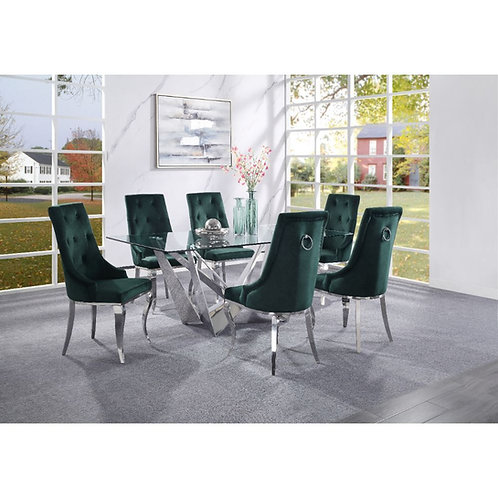 All Dekel Hollywood Glam Glass Dining Table