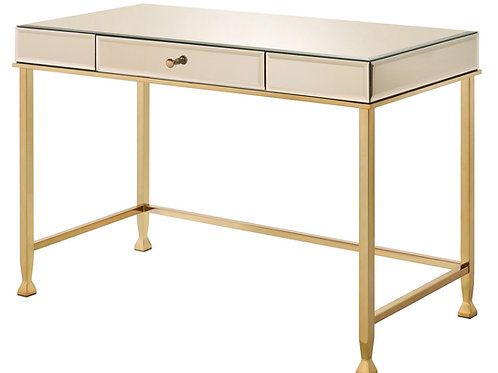 All Canine Smoked Mirrored & Champagne Finish Writing Desk