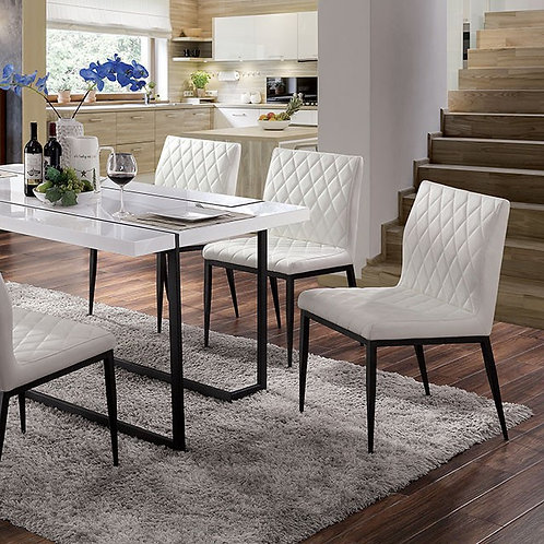 Alisha Imprad White/Black Table