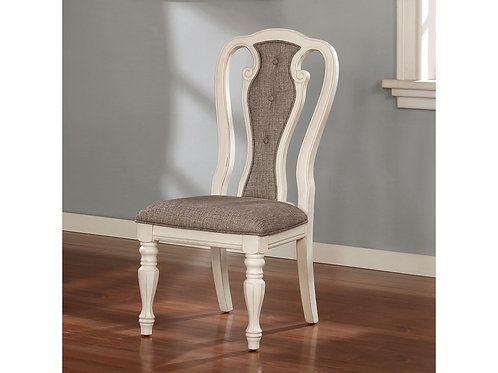 LESLIE Imprad Traditional Tufted Upholstery Side Chair