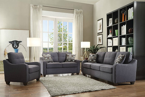 Cleavon II All Sofa w/2 Pillows Gray Linen