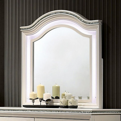 Allie Imprad Pearl White Mirror with LED Lights