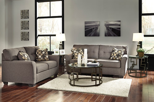 Tibbee Angel Slate Fabric Contemporary Sofa
