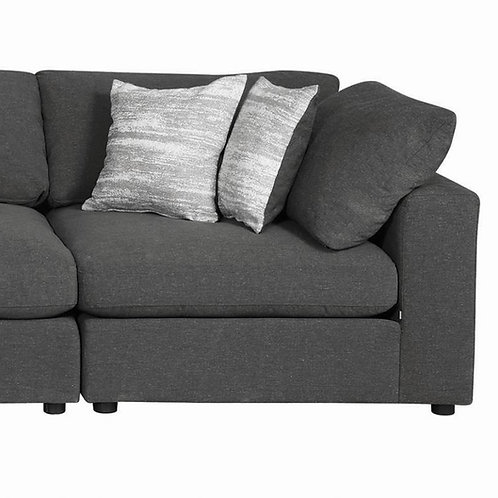 Serene Cali Upholstered Charcoal Corner