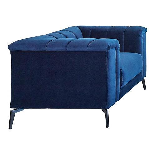 Chalet Cali Blue Velvet Chair