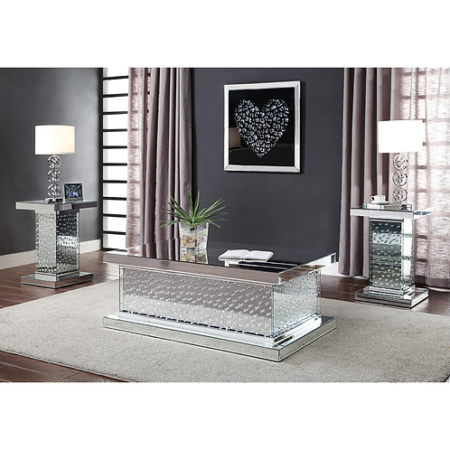 Glam All 81410 Mirrored Coffee Table