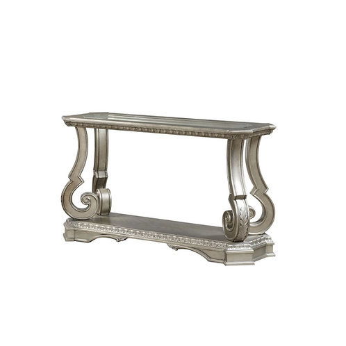 All Northville Traditional Antique Silver & Clear Glass Sofa Table