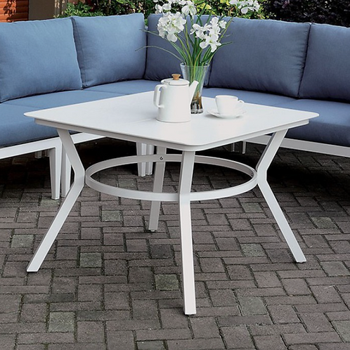 SHARON Imprad Contemporary White Patio Coffee Table