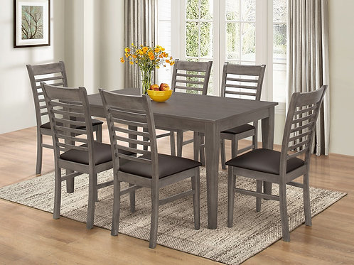 7812 Milt Dining Table & 6 Side Chair (7pc set)