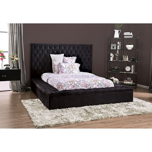 Davida Imprad Black Storage Bed