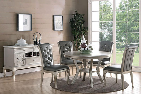 Round Gray Dining Table Port 2150