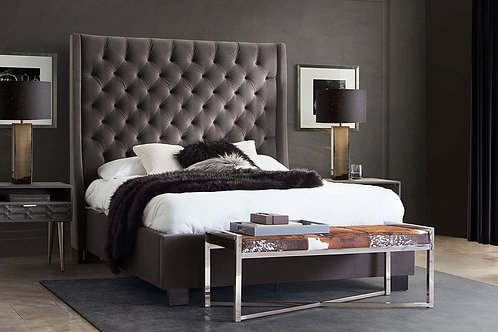 Dream Park Avenue Gray Velvet Bed