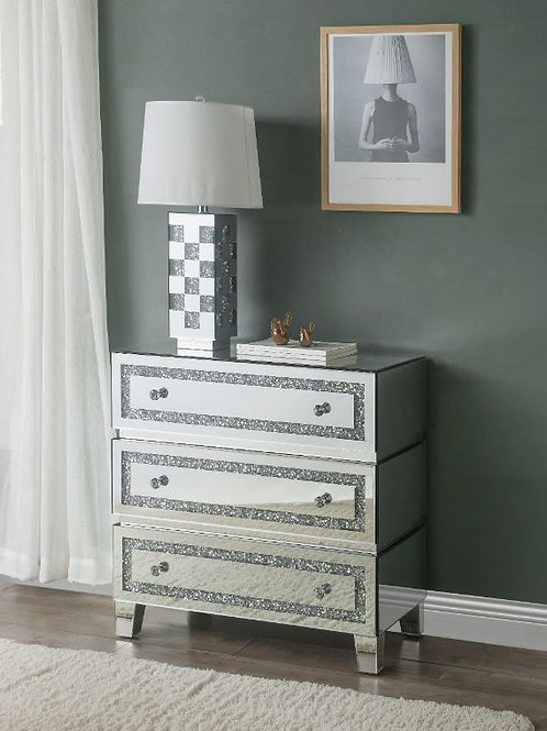 All 97946 Glam Mirrored Noor Cabinet