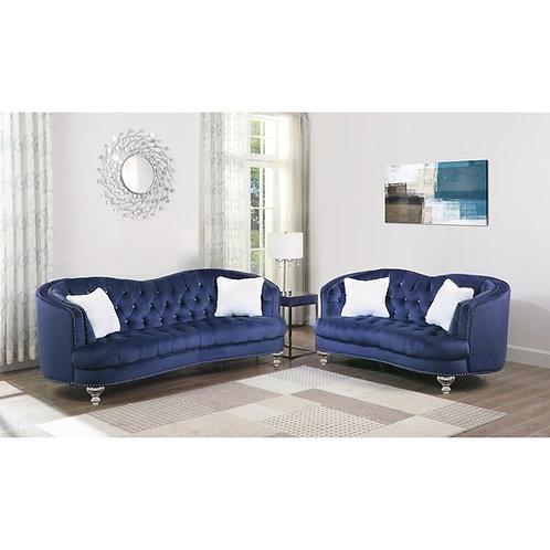 Best S311 Navy Blue Velvet Sofa