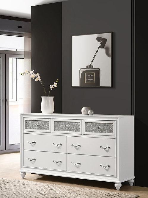Barzini Cali 7-Drawer Dresser White
