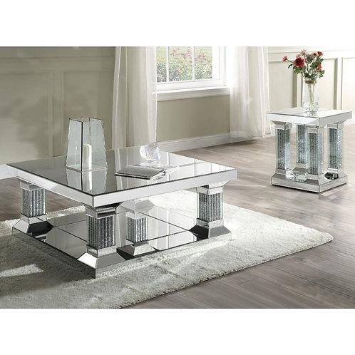 All Caesia Coffee Table - 87905 - Mirrored & Faux Diamonds
