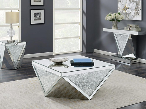72250 Cali Mirrored Occasional Table