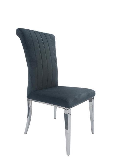 Beaufort Cali Grey Velvet Chair