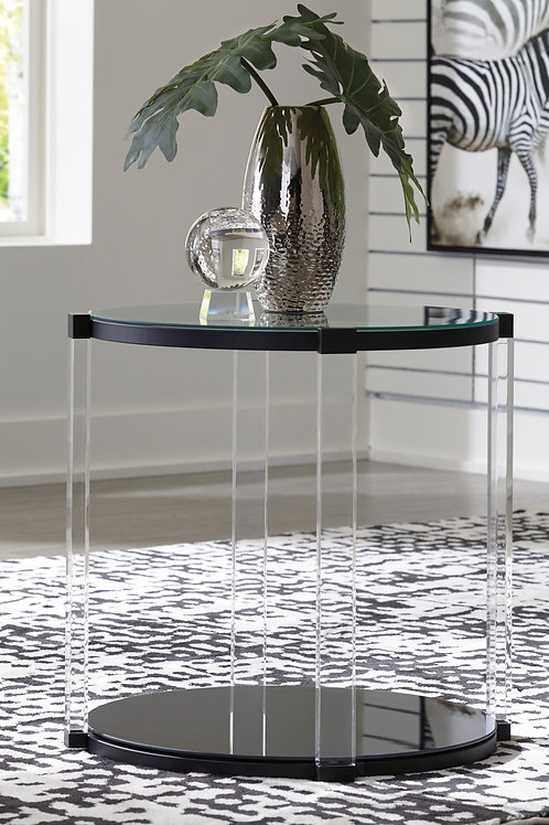 Delsiny Angel Round End Table