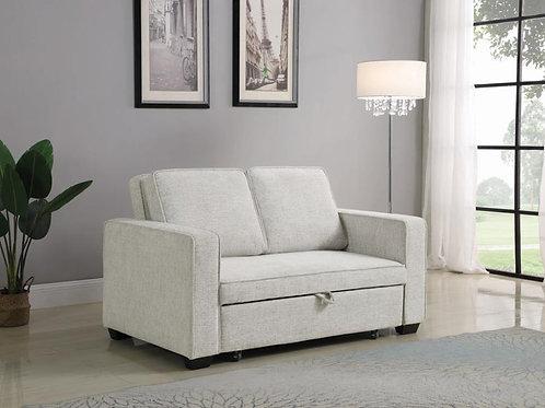 Helene Cali Beige Chenille Sofa Bed