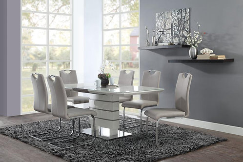 Glissand Henry Contemporary White Dining Table