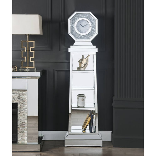 All 97736 Mirrored Glam Noralie Grandfather Clock