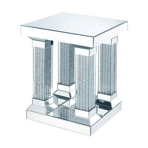 All  Caesia End Table - 87907 - Mirrored & Faux Diamonds