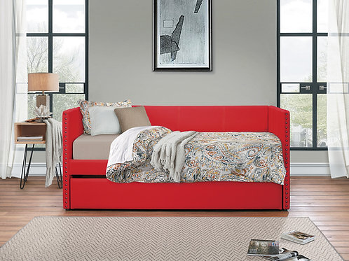 Theres Henry Red Fabric Daybed w/Trundle