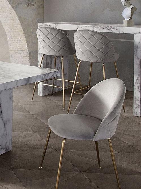 Lilly Dream Grey Velvet Chair