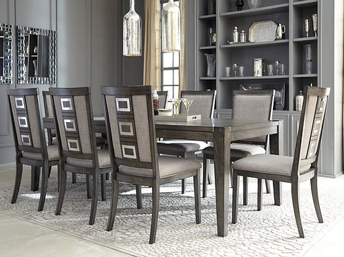 Angel Chadoni Contemporary Gray RECT EXT Dining Table