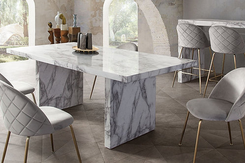 Icon Dream Faux Marble Finish Dining Table