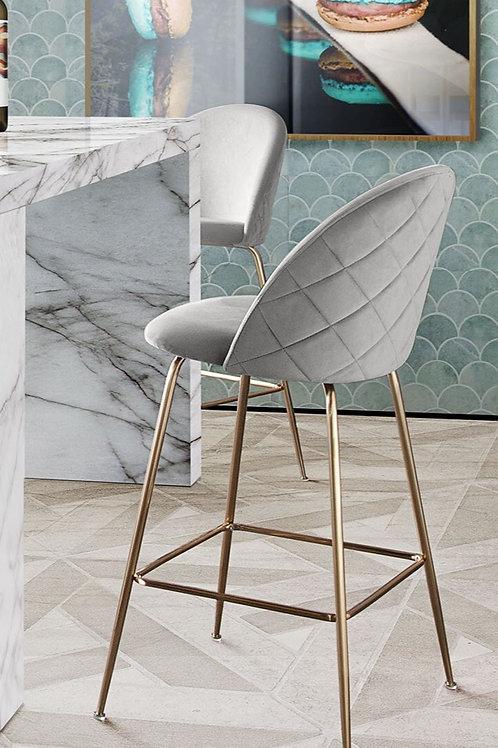 Lilly Dream Grey Velvet Counter Height Chair