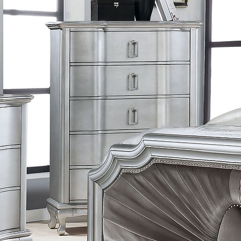 AALOK Imprad Transitional Silver Chest