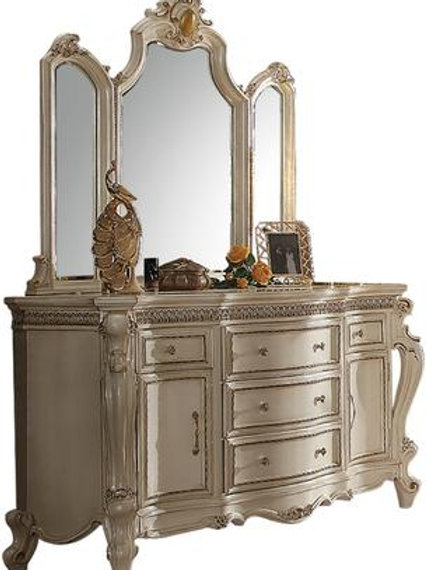 Picardy All Antique Pearl Finish Dresser