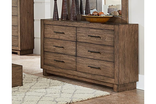 Korlan Henry Brown Oak Contemporary Dresser