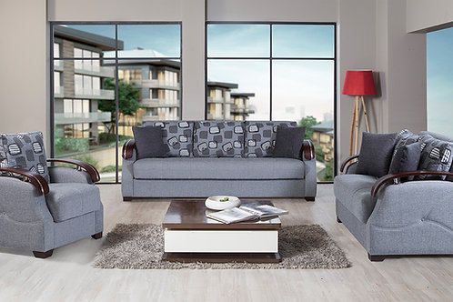 Diva Capetown Rock Gray Fabric Sofa Sleeper