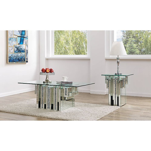 All Noralie - 88000 - Glam - Mirror, Glass Coffee Table