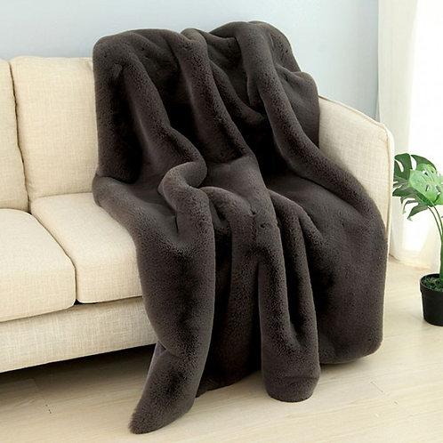 Caparica Imprad Charcoal Throw Blanket