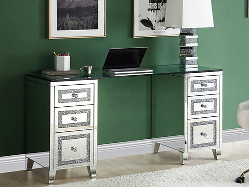 All Glam Mirrored Noralie 93124 Writing Desk
