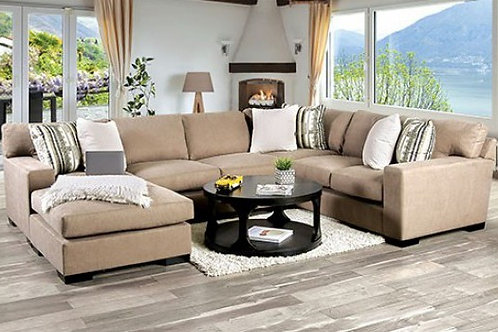 Imprad Ferndale Brown Chenille Sectional